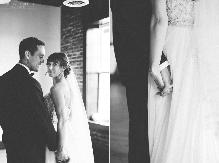 Cannery Ballroom wedding: Paula + Wes\'s Classic Navy and Black ...